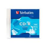 Disco Virgen Cds Grabable 80 Minutos Cdr 80 52x S/c Verbatim