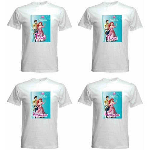 tienda oficial últimos diseños diversificados oferta Playeras Personalizadas Sirenita Fiestas Cumpleaños Famila ...