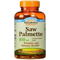 Sundown Naturals Saw Palmetto 450 Mg 250 Cápsulas