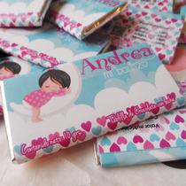 Chocolates Personalizados Baby Shower Bautizo Boda Fiestas