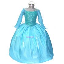Disfraz Vestido Frozen Elsa Regalo Peluca Corona Capa Envio