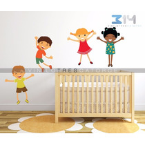 Vinilo Decorativo Infantil Niños-i 01, Calcomanía De Pared.