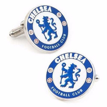 Mancuernillas Chelsea Logo Football Club Plateadas Acero