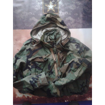 Chamarra Militar Us Army Original Woodland Camuflaje Verde