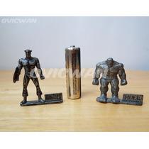 Mini Figuras Metálicas Capitán América Hulk Vengadores Md85