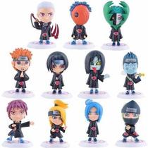 Set Figuras Naruto Shippuden Anime Akatsuki Pvc Shibi