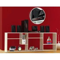 Mesa Para Tv, Mueble, Nuevo, De Aglomerado De Madera, Blanco