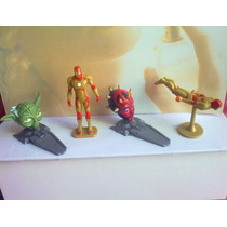 Star Wars Y Ironman Figuras Miniatura Huevo Chocolate