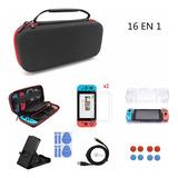 Kit De Accesorios Para Nintendo Switch 16 En 1 Funda Estuche