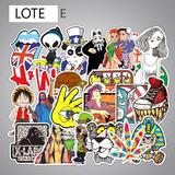 100 Calcomanias Stickers Mixtas De Pvc A Escoger Contra Agua