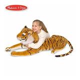 Melissa & Doug Tigre Gigante Animal Relleno (fauna, Tela Sua