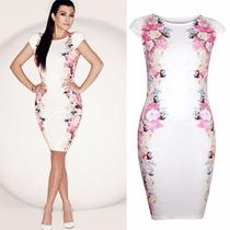 Elegante Vestido Casual De Flores Mod 5879
