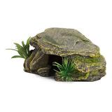 Reptil Tortuga Basking Platform Ocultar Cueva Tanque De Pece