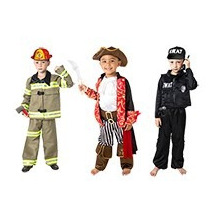 Envío Gratis. Disfraz De Niño Y Niña. Bombero, Pirata, Polic