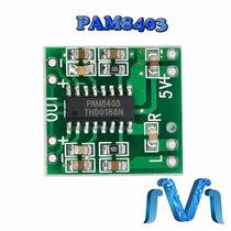 Pam8403 Mini Amplificador 3w De Audio Clase D De Arduino Pic