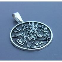 Dije Madalla Tetragramaton Pentagrama En Plata Fina Ley.925