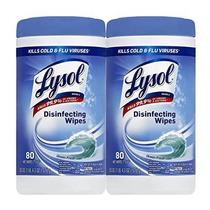 Lysol Toallitas Desinfectantes Ocean Fresh 80 Count (paquete