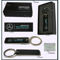 Llavero Mercedes Amg Petronas F1 Placa Genuino Linea 2015
