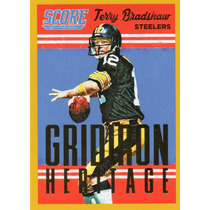2015 Score Gridiron Heritage Gold Terry Bradshaw Steelers