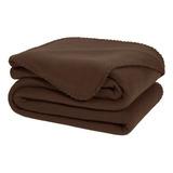 Cobertor Melocotton Merrow Individual Chocolate Liso