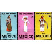 2795 México Trajes Típicos Serie 3 Sellos Mint N H 1981