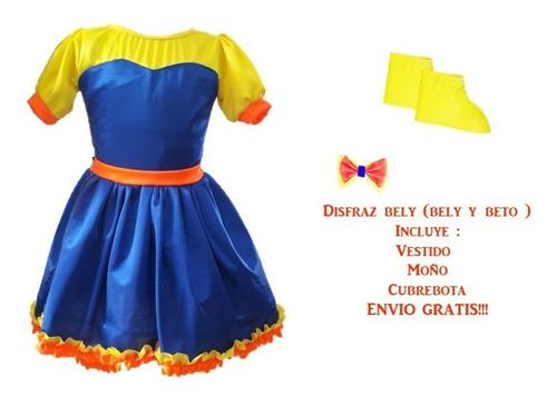 Disfraz Bely (bely Y Beto)con Moño Y Cubrebota Envio Gratis!