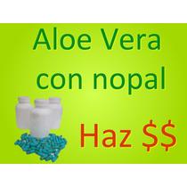 Paquete Para Tienda Naturista 12 Frascos Aloe Vera Con Nopal