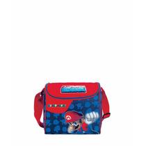 Lonchera Escolar Kinder Niño Mario Bros Mod. Mb60791-9 Azul