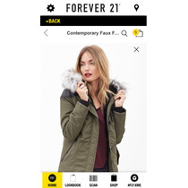Forever21 Chamarra Cazadora Parka Para Lluvia Xs, S, M Y L