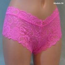 Victoria Secret Boxer Rosa De Encaje