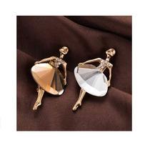 7fd6f95044bf Collar De Moda Bailarina De Ballet Cristal Bisutería Retro en venta ...
