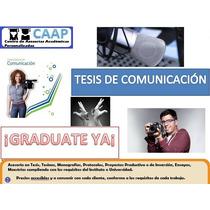 Tesis En Comunicación Asesorías