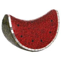 Sandia Roja Forrada Con Vidritos De Colores En Forma De Reba