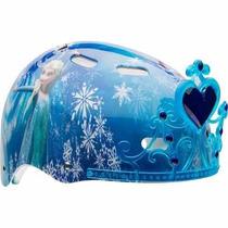 Casco De Bicicleta Disney Frozen Bell Sports Con Rodilleras