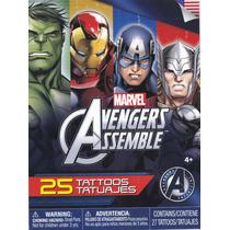 Tatuajes Temporales Avengers Assemble Marvel Los Vengadores
