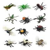 Modelos Animales Insectos Pvc Plástico Establecidos 12pcs