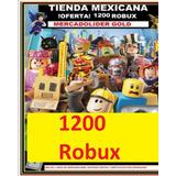 1200 Robux En Roblox-entrega Inmedita(tienda Mx)