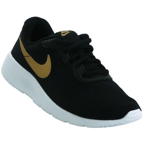 3c5ab5781f Tenis Nike Tanjun Preescolar Negro Dorado 17-22 Originales