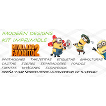 Kit Imprimible Mi Villano Favorito 2 Minions Invitaciones Y+