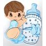 Figuras De Foamy Baby Shower Niño 12 Piezas Fomi