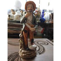 Figura De Viejito Fabricado En Porcelana Tiene Un Sello