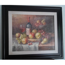 Pintura De Oleo Con Marco 70x80cm
