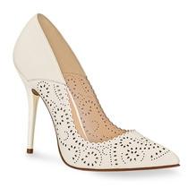 Zapato Zapatillas Color Hueso Andrea 2284903 Piel Tacón 11cm