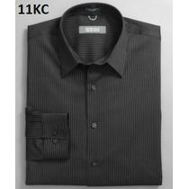S, M - Camisa Kenneth Cole Negra Ropa Hombre 100% Original
