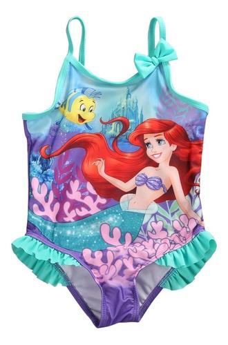 Traje De Baño Con Diseño De La Sirenita Para Niñas 1 5 Años
