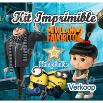 Kit Imprimible Mi Villano Favorito 2 + Candy Bar Fiesta