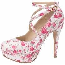 Zapatillas De Flores Vintage,pump,moda, Plataforma!!!
