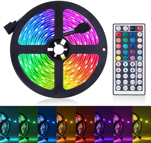 Tira De Luces Led Rgb Con Control Remoto 16.4 Ft