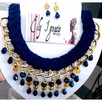 3d2d12fd6fa8 Collar Artesanal Tejido Con Cristal Perla Bisuteria Fina en venta en ...