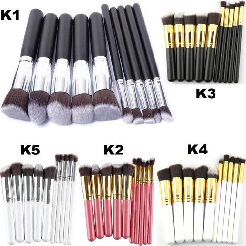 de8a87db3f7ce Set 10 Brochas Kabuki Grande Unicornio Oval Envío Gratis
